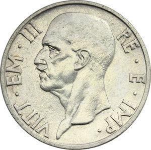 obverse: Vittorio Emanuele III (1900-1943). Lotto di 2 monete da 5 lire 1936 e 1937
