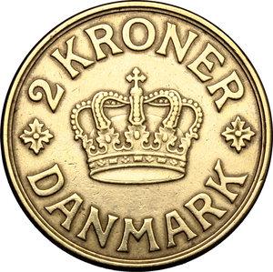 reverse: Denmark.  Christian X (1912-1947).. 2 kroner 1924