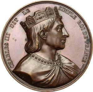 obverse: France.  Charles the Simple (879-929). Medal 1839, serie le Rois de France