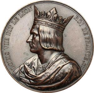 obverse: France.  Louis VIII the Lion (1187-1226). Medal 1837, serie le Rois de France