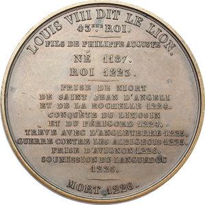 reverse: France.  Louis VIII the Lion (1187-1226). Medal 1837, serie le Rois de France