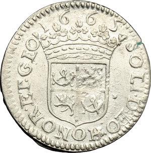 reverse: France. 1/12 d Ecu de 5 Sols (Luigino) 1665, Principality of Orange