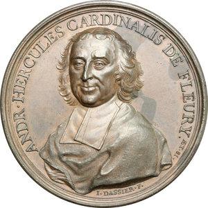 obverse: France.  André-Hercule de Fleury (1653-1743), Bishop of Fréjus, Archbishop of Aix.. Medal 1736