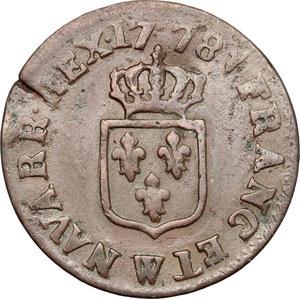 reverse: France.  Louis XVI (1774-1793).. Liard 1778