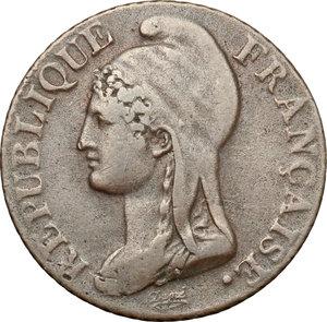 obverse: France.  First Republic. 5 centimes l an 4
