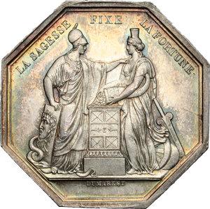 obverse: France. Silver token for Banque de France, AN VIII (year 1800)