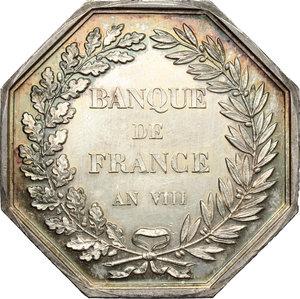 reverse: France. Silver token for Banque de France, AN VIII (year 1800)