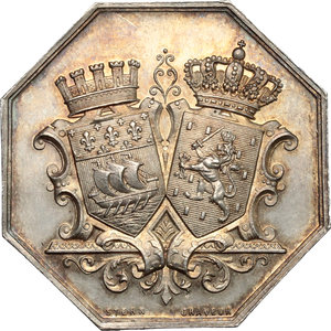 obverse: France. Silver token for Banque de Paris & des Pays-Bas