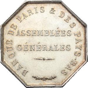 reverse: France. Silver token for Banque de Paris & des Pays-Bas