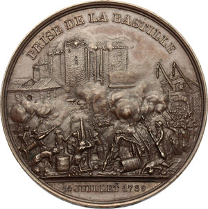 obverse: France. Medal 1844, the Storming of the Bastille and the castle of Vincennes