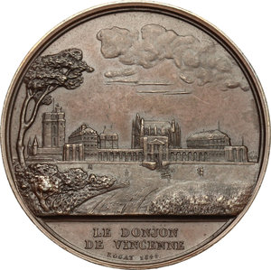 reverse: France. Medal 1844, the Storming of the Bastille and the castle of Vincennes