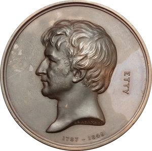 obverse: William Etty (1787-1849), painter. Medal 1872, Art Union of London
