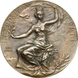 obverse: France. Medal for The Exposition Universelle of 1900