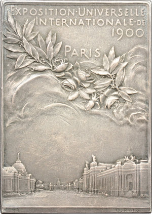 obverse: France. Silver plaquette for The Exposition Universelle of 1900