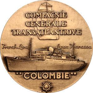 obverse: France. Medal Compagnie Générale Transatlantique Colombie