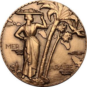 reverse: France. Medal Compagnie Générale Transatlantique Colombie