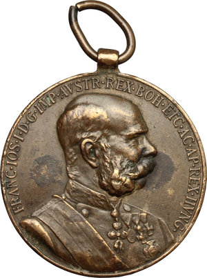 obverse: Austria.  Franz Joseph I (1830-1916). Medal 1898, commemorating 50 years of his reign