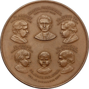 reverse: Germany.  Wilhelm II (1859-1941), and his wife Augusta Victoria of Schleswig-Holstein (1858-1921) . Medal celebrating imperial issue