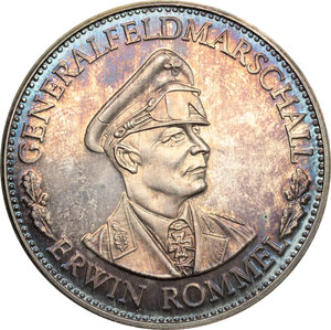 obverse: Germany.  Erwin Rommel (1891-1944), German general and military theorist.. Medal 1981