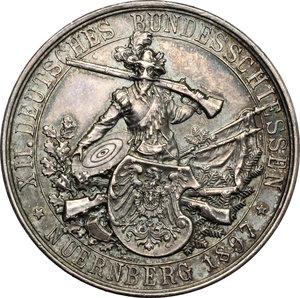 obverse: Germany, Nürnberg. Medal XII Deutsches Bundesschiessen 1897