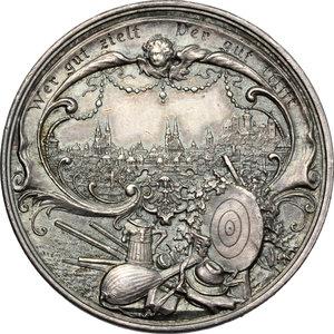reverse: Germany, Nürnberg. Medal XII Deutsches Bundesschiessen 1897