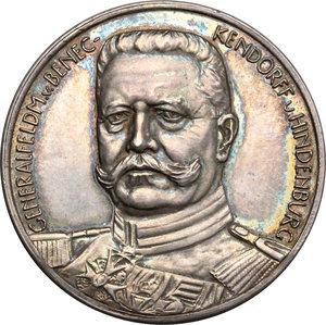 obverse: Germany.  Paul von Hindenburg (1914-1919), General field marshal.. Silver Medal (1914) \