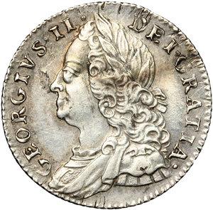 obverse: Great Britain.  George II (1727-1760). 6 pence 1757