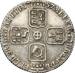 reverse: Great Britain.  George II (1727-1760). 6 pence 1757