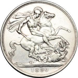 reverse: Great Britain.  Victoria (1837-1901). Crown 1890