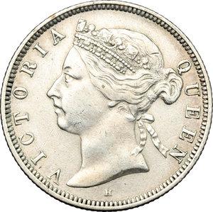 obverse: Great Britain.  Victoria (1837-1901). 20 cents 1890- British India Government
