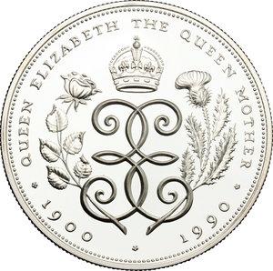 reverse: Great Britain.  Elizabeth II (1952 -). 5 pounds 1990 (28,28 grammes silver sterling)
