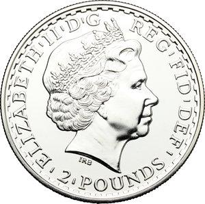 obverse: Great Britain.  Elizabeth II (1952 -). 2 pounds 2010 (one ounce fine silver)