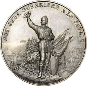 Switzerland, Neuchâtel. Medal for the Shooting Festival- Le Locle 1892
