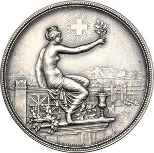 Switzerland, Zürich. Medal for the Shooting Festival- Winterthur 1895