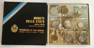obverse: San Marino. Monete divisionali 1979 in confezione zecca