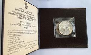 obverse: San Marino. 1000 lire celebrative dell unità Europea 1979 in confezione zecca
