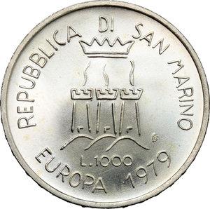 obverse: San Marino. 1000 lire  Unità Europea  1979