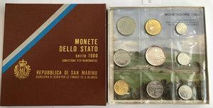 obverse: San Marino. Monete divisionali 1980 in confezione zecca