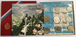 obverse: San Marino. Monete divisionali 1981 in confezione zecca