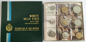 obverse: San Marino. Monete divisionali 1982 in confezione zecca