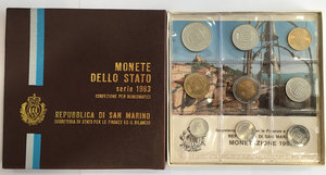 obverse: San Marino. Monete divisionali 1983 in confezione zecca