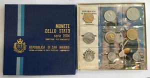 obverse: San Marino. Monete divisionali 1984 in confezione zecca