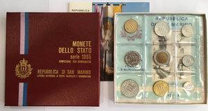 obverse: San Marino. Monete divisionali 1985 in confezione zecca