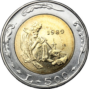 reverse: San Marino. 500 lire 1989