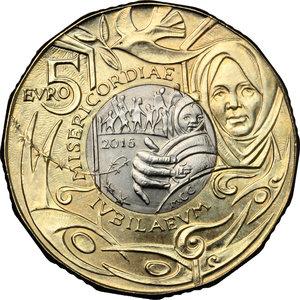 reverse: San Marino. 5 euro 2016 per il Giubileo della Misericordia
