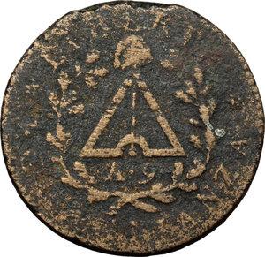 reverse: Torino.  Repubblica Subalpina (1800-1802). 2 soldi 1801