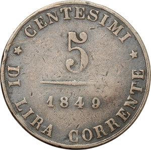 reverse: Venezia.  Governo Provvisorio (1848-1849). 5 centesimi 1849