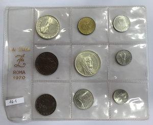 obverse: Monete divisionali 1970 in confezione zecca
