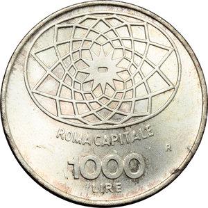 reverse: 1000 lire  ROMA CAPITALE  1970