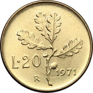 reverse: 20 lire 1971